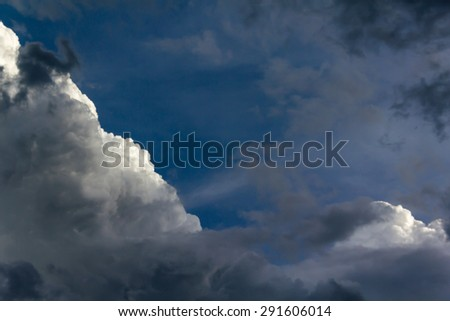 sky and dark cloud - stock photo