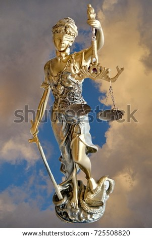 Sky and Justice sculpture