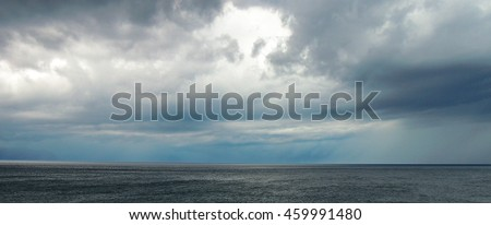 Sky and sea before storm - stock photo