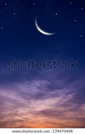 Sky and stars. - stock photo
