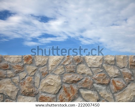 Sky and Stone wall background - neighborhood conflict