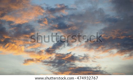 sky and sunset