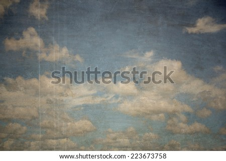 sky antique wall background