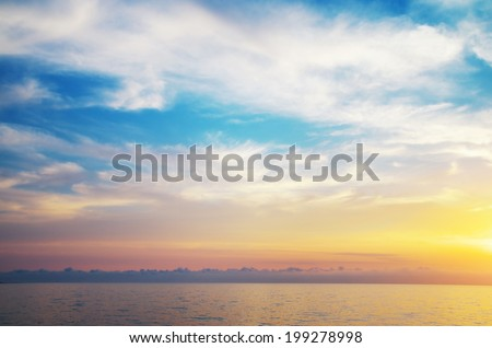 Sky background. Composition of nature. - stock photo