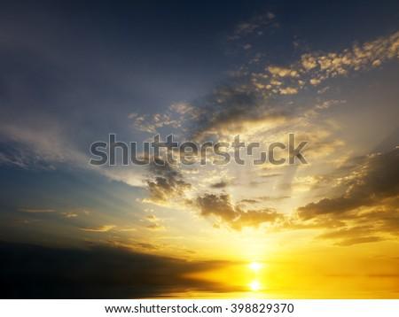 Sky background on sunrise. Nature composition. - stock photo