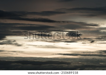 Sky Background with Beautiful cloudscape - stock photo