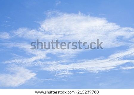 sky background with clouds. - stock photo