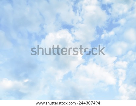 sky background with clouds.