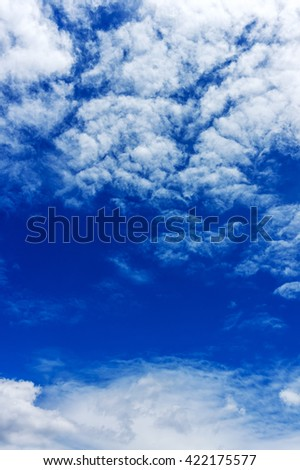 Sky beautiful  clouds white and blue nature pattern background.