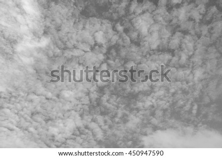 Sky black and white images. - stock photo