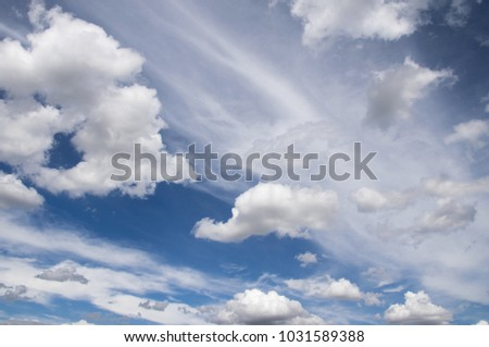 Sky / blue sky background with clouds / Sky with clouds