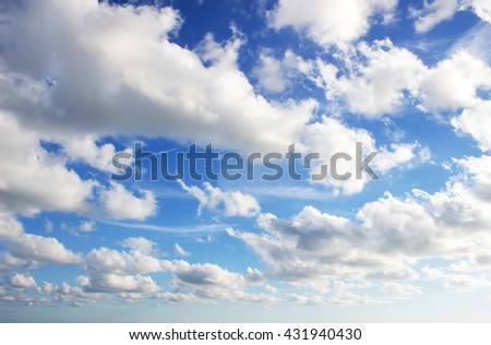 Sky / blue sky background with clouds / Sky with clouds - stock photo