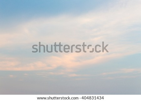 Sky blue with cloud soft, vast blue Cloudy sky at sunset ( may be used as background) - stock photo