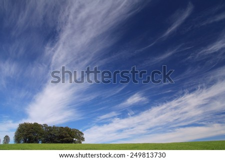 sky blue with clouds - stock photo