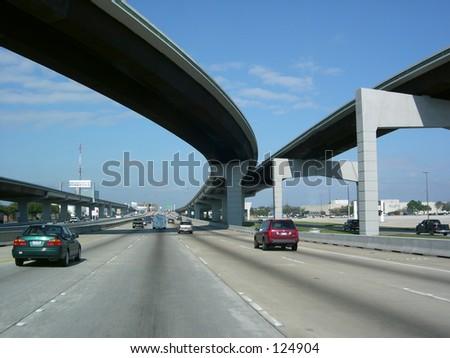 Sky Bridges Freeway - stock photo