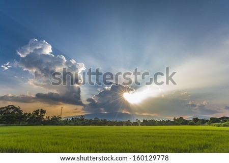 sky bursting - stock photo