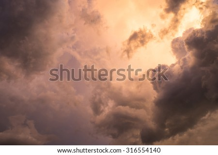 Sky cloud color gold blue wonderful background