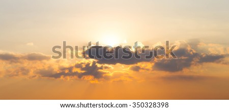 Sky cloud sunlight sunset On nature beautiful