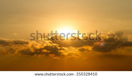 Sky cloud sunlight sunset On nature beautiful twilight