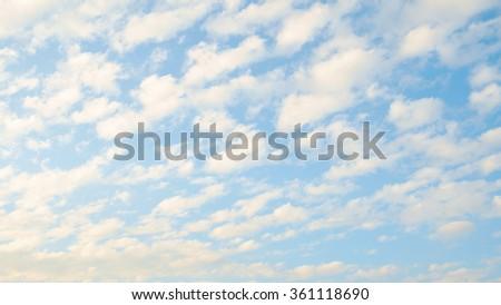 Sky clouds. - stock photo