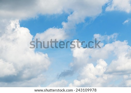 sky-clouds background - stock photo