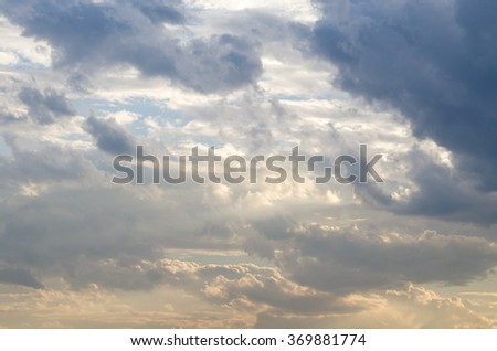 Sky clouds,cloudscape area for background