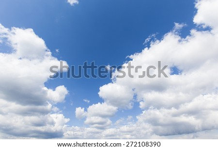 sky clouds,white clouds and blue sky, cloudscape background - stock photo