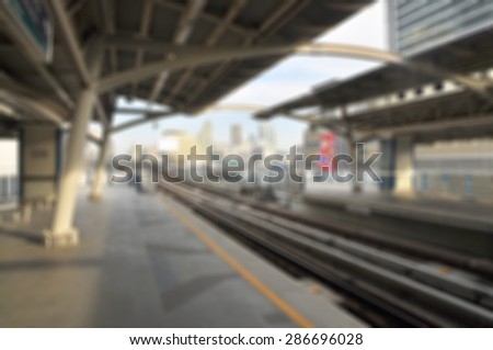 Sky electric train in bangkok Thailand - stock photo