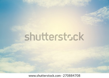 Sky in vintage filter. - stock photo