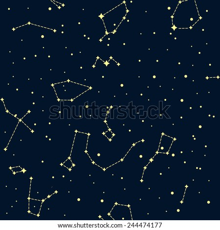 sky map of northern hemisphere on dark background raster