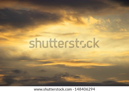 Sky on a sunset after a thunderstorm - stock photo