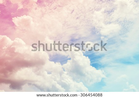 sky pink and blue colors.sky abstract background - stock photo