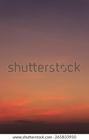 sky red sunset soft focus - stock photo