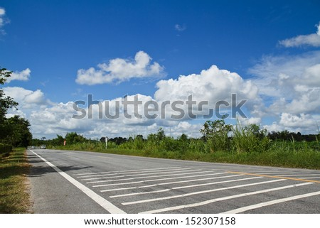Sky Road. - stock photo