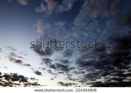 sky (sunset) - stock photo
