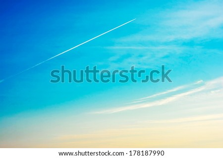 Sky - Sunset with cloud - stock photo