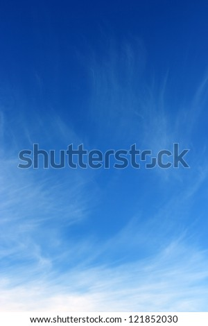 Sky. The blue sky and white clouds. - stock photo