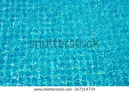 sky tile swimming pool and reflect water - stock photo