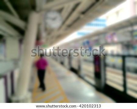 Sky train - Blur for background
