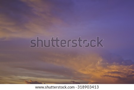 Sky twilight, Background