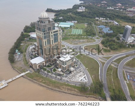 Sky view of Sabah State Administrative Building, the new building Sabah Government Administrative.
