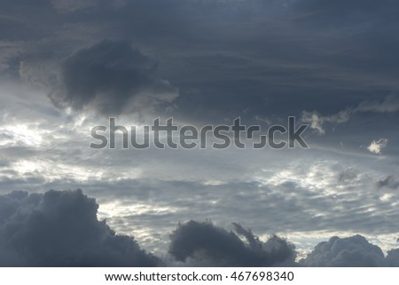 Sky with cloud