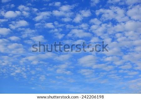 Sky with cloud, altocumulus - stock photo
