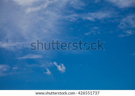 Sky with Cloud background.