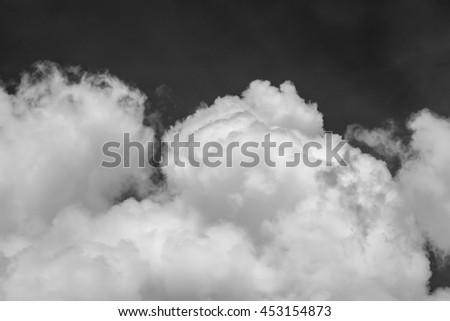 sky with cloud black and white