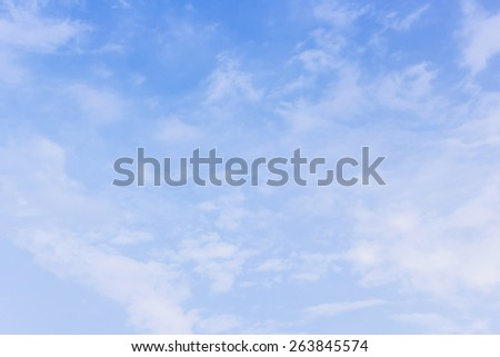 Sky with clouds. - stock photo