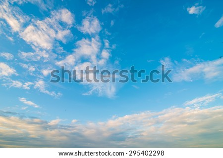 sky with clouds and sun light, Morning sky