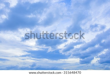 sky with clouds and sunset