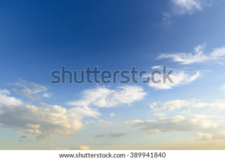 sky with clouds Fiery orange Beautiful sky - stock photo