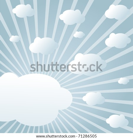 Sky with clouds in sunlight in modern style (jpeg)